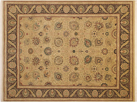 "A04475, 9' 1"" X 12' 1"",Traditional                   ,9' x 12',Gold,BLACK,Hand-knotted                  ,Pakistan   ,100% Wool  ,Rectangle  ,652671163944"