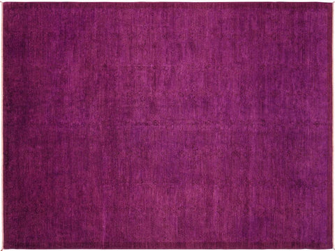 "A04525, 9'11"" X 13' 4"",Over Dyed                     ,10' x 14',Purple,PURPLE,Hand-knotted                  ,Pakistan   ,100% Wool  ,Rectangle  ,652671164439"