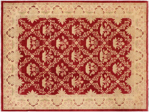 "A04653,10' 0"" X 13' 9"",Transitional                  ,10' x 14',Red,GOLD,Hand-knotted                  ,Pakistan   ,100% Wool  ,Rectangle  ,652671165696"