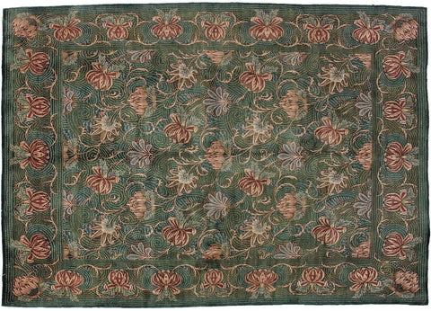 "A04704, 9' 2"" X 12' 0"",Transitiona,9' x 12',Green,GRAY,Hand-knotted                  ,Pakistan   ,100% Wool  ,Rectangle  ,"