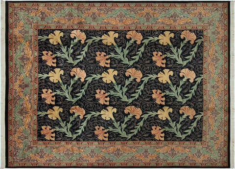 "A04727, 8'11"" X 11' 2"",Transitiona,9' x 12',Black,TAN,Hand-knotted                  ,Pakistan   ,100% Wool  ,Rectangle  ,"