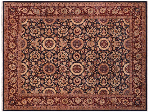 "A04730, 8' 0"" X  9' 9"",Traditional                   ,8' x 10',Blue,DARK BROWN,Hand-knotted                  ,Pakistan   ,100% Wool  ,Rectangle  ,652671166457"