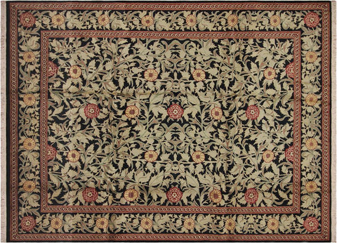 "A04733, 9' 0"" X 11' 8"",Transitiona,9' x 12',Black,RED,Hand-knotted                  ,Pakistan   ,100% Wool  ,Rectangle  ,"