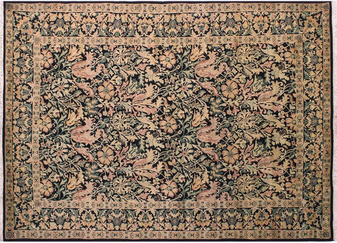 "A04790, 6' 0"" X  9' 0"",Transitiona,6' x 9',Black,PINK,Hand-knotted                  ,Pakistan   ,100% Wool  ,Rectangle  ,"