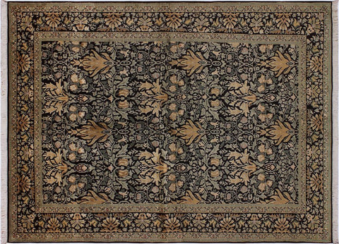 "A04794, 6' 1"" X  9' 3"",Transitiona,6' x 9',Black,GREEN,Hand-knotted                  ,Pakistan   ,100% Wool  ,Rectangle  ,"