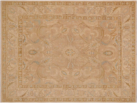 handmade Traditional Kafkaz Tan Brown Hand Knotted RECTANGLE 100% WOOL area rug 9x12'