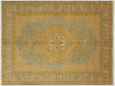 "A04861, 5' 8"" X  7' 4"",Traditional                   ,6' x 7',Blue,GOLD,Hand-knotted                  ,Pakistan   ,100% Wool  ,Rectangle  ,652671167768"