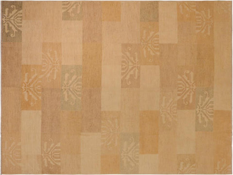 "A04877,10' 0"" X 13' 3"",Modern                        ,10' x 13',Tan,BLUE,Hand-knotted                  ,Pakistan   ,100% Wool  ,Rectangle  ,652671167928"