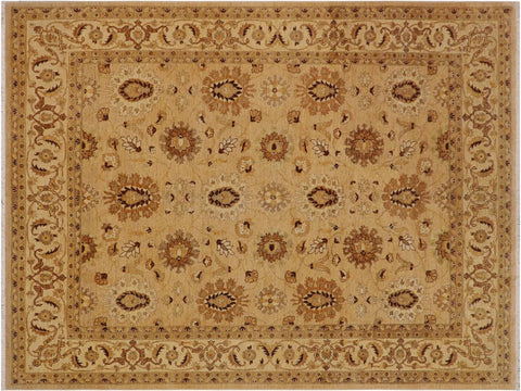 handmade Traditional Kafkaz Tan Beige Hand Knotted RECTANGLE 100% WOOL area rug 8 x 10