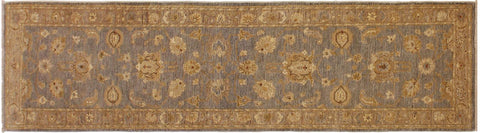 "A04972, 2' 8"" X 10'10"",Transitional                  ,3' x 11',Grey,LT. BROWN,Hand-knotted                  ,Pakistan   ,100% Wool  ,Runner     ,652671168871"
