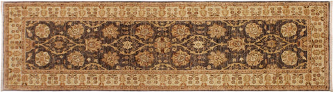 "A04975, 3' 1"" X  9' 3"",Transitional                  ,3' x 25',Grey,IVORY,Hand-knotted                  ,Pakistan   ,100% Wool  ,Runner     ,652671168901"