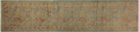 "A04976, 2' 7"" X 11' 4"",Transitiona,2'7"" x 11',Blue,GRAY,Hand-knotted                  ,Pakistan   ,100% Wool  ,Runner     ,652671168918"