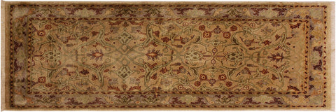 "A04991, 2' 9"" X  5' 7"",Transitional                  ,3' x 6',Tan,GRAY,Hand-knotted                  ,Pakistan   ,100% Wool  ,Runner     ,652671169069"