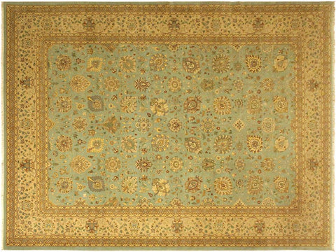 "A05052,10' 3"" X 14' 0"",Transitiona,10' x 14',Blue,TAN,Hand-knotted                  ,Pakistan   ,100% Wool  ,Rectangle  ,652671169670"