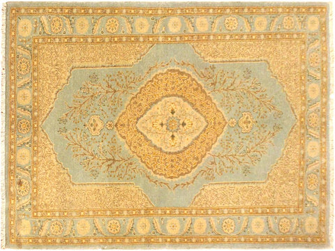"A05059, 3' 1"" X  5' 1"",Traditional                   ,3' x 5',Blue,GOLD,                              ,Pakistan   ,100% Wool  ,Rectangle  ,652671169748"