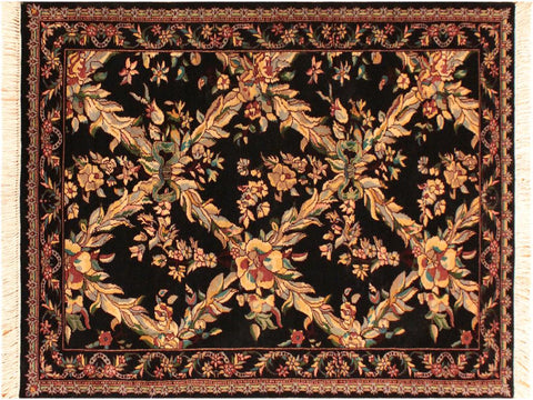"A05084, 3' 0"" X  4'11"",Transitional                  ,3' x 5',Black,TAN,Hand-knotted                  ,Pakistan   ,100% Wool  ,Rectangle  ,652671169984"