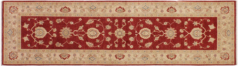 "A05106, 2' 8"" X  8' 5"",Transitional                  ,3' x 25',Red,IVORY,Hand-knotted                  ,Pakistan   ,100% Wool  ,Runner     ,652671213205"