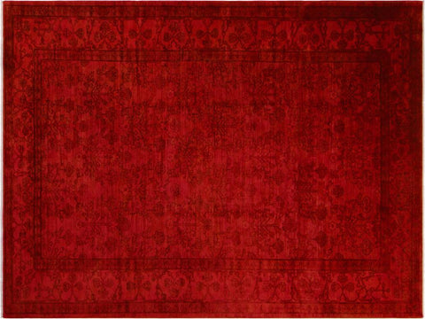 "A05196, 9' 3"" X 11'11"",Over Dyed                     ,9' x 12',Red,ROSE,Hand-knotted                  ,Pakistan   ,100% Wool  ,Rectangle  ,652671195808"