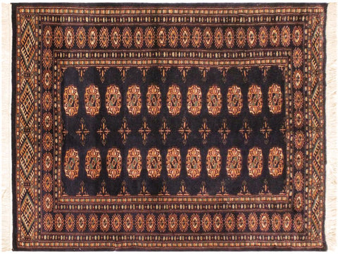 "A05234, 4' 3"" X  5' 3"",Geometric                     ,4' x 6',Blue,BLUE,Hand-knotted                  ,Pakistan   ,100% Wool  ,Rectangle  ,652671207464"