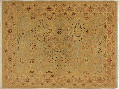 "A05243, 4' 3"" X  6' 1"",Traditional                   ,4' x 6',Blue,LT. TAN,Hand-knotted                  ,Pakistan   ,100% Wool  ,Rectangle  ,652671207631"