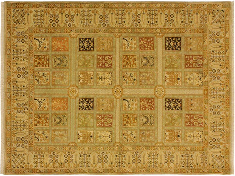 "A05245, 4' 1"" X  6' 0"",Traditional                   ,4' x 6',Tan,GOLD,Hand-knotted                  ,Pakistan   ,100% Wool  ,Rectangle  ,652671207594"