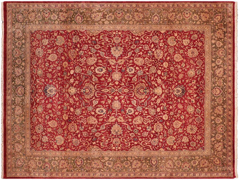 "A05270, 7'11"" X 10' 1"",Traditional                   ,8' x 10',Red,GREEN,Hand-knotted                  ,Pakistan   ,100% Wool  ,Rectangle  ,652671213229"