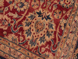 handmade Traditional Mehal Red Blue Hand Knotted RECTANGLE 100% WOOL area rug 8x10 Hand knotted indoor Pak Persian vegetable dyed area rug made for all rooms with high quality New Zealand wool in rich color pallet weaved by skilled artisans in traditional transitional design known for quality and affordable price. Oriental rug offered at cheap discount for any decor, with Persian weave(KPSI upto 300)