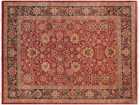 "A05272, 8' 0"" X  9'10"",Traditional                   ,8' x 10',Red,BLUE,Hand-knotted                  ,Pakistan   ,100% Wool  ,Rectangle  ,652671213243"