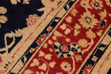 "A00790, 9' 2"" X 12' 5"",Transitional                  ,9' x 12',Blue,RED,Hand-knotted                  ,Pakistan   ,100% Wool  ,Rectangle  ,652671129049"