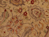 handmade Transitional Kafkaz Tan Brown Hand Knotted RECTANGLE 100% WOOL area rug 9 x 12