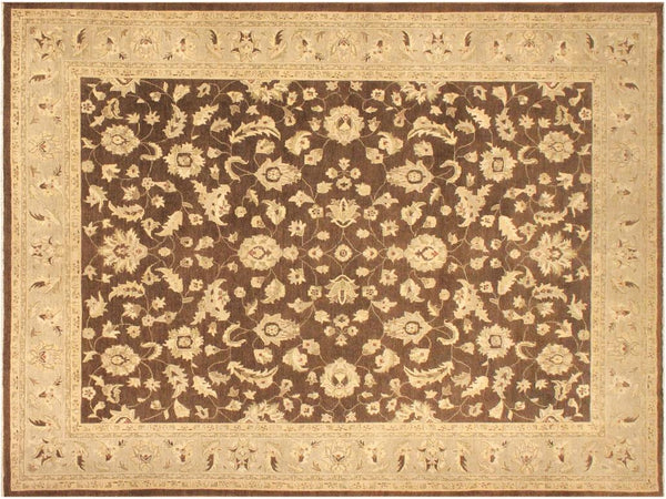 handmade Traditional Kafkaz Brown Gray Hand Knotted RECTANGLE 100% WOOL area rug 9x12