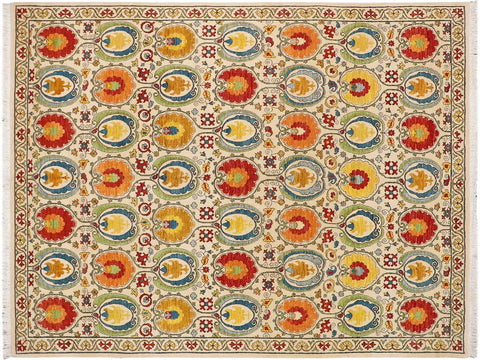 "A08102, 9' 1"" X 11' 0"",Modern     ,9' x 11',Natural,IVORY,Hand-knotted                  ,Pakistan   ,100% Wool  ,Rectangle  ,652671171086"