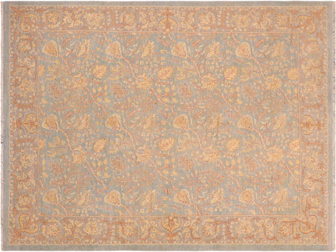 "A08113, 8' 0"" X  9'11"",Transitional                  ,8' x 10',Blue,LT. GRAY,Hand-knotted                  ,Pakistan   ,100% Wool  ,Rectangle  ,652671171192"
