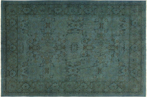 "A08125, 7'11"" X 10' 0"",Over Dyed                     ,8' x 10',Blue,LT. GREEN,Hand-knotted                  ,Pakistan   ,100% Wool  ,Rectangle  ,652671171314"