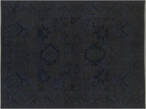 "A08153, 8' 9"" X 11' 6"",Over Dyed  ,9' x 12',Grey,GRAY,Hand-knotted                  ,Pakistan   ,100% Wool  ,Rectangle  ,652671171574"