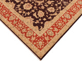 "A00816, 9' 2"" X 11' 9"",Transitional                  ,9' x 12',Brown,RUST,Hand-knotted                  ,Pakistan   ,100% Wool  ,Rectangle  ,652671129292"