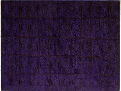 "A08172, 4'10"" X  6' 4"",Over Dyed                     ,5' x 6',Purple,RED,Hand-knotted                  ,Pakistan   ,100% Wool  ,Rectangle  ,652671171765"