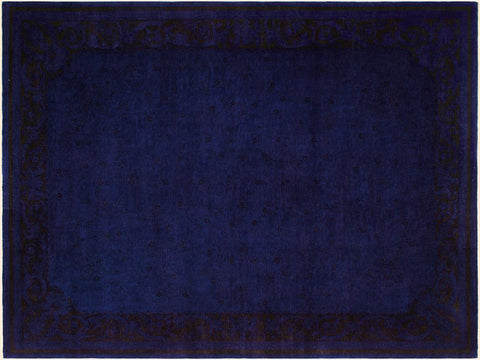 "A08194, 8'10"" X 12' 6"",Over Dyed  ,9' x 13',Blue,BLUE,Hand-knotted                  ,Pakistan   ,100% Wool  ,Rectangle  ,652671171970"