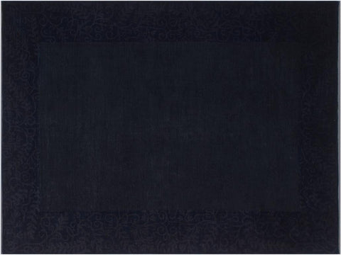"A08196, 8' 7"" X 11' 3"",Over Dyed  ,9' x 11',Blue,GRAY,Hand-knotted                  ,Pakistan   ,100% Wool  ,Rectangle  ,652671171994"