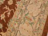 "A00825, 9' 0"" X 12' 1"",Traditional                   ,9' x 12',Brown,LT. TAN,Hand-knotted                  ,Pakistan   ,100% Wool  ,Rectangle  ,652671129377"