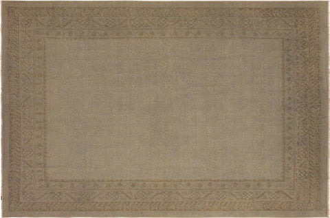 "A08262, 7'11"" X  9' 8"",Over Dyed                     ,8' x 10',Silver,GRAY,Hand-knotted                  ,Pakistan   ,100% Wool  ,Rectangle  ,652671172595"