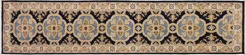 "A08282, 2' 7"" X 10' 0"",Transitional                  ,3' x 10',Blue,IVORY,Hand-knotted                  ,Pakistan   ,100% Wool  ,Runner     ,652671172793"