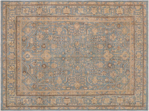 "A08294, 9' 4"" X 12' 4"",Vintage                       ,9' x 12',Blue,TAN,Hand-knotted                  ,Pakistan   ,100% Wool  ,Rectangle  ,652671172915"