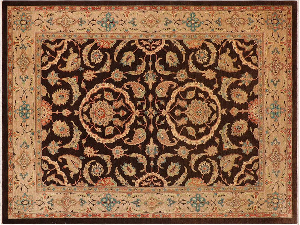 "A00835, 8'11"" X 11' 9"",Traditional                   ,9' x 12',Brown,TAN,Hand-knotted                  ,Pakistan   ,100% Wool  ,Rectangle  ,652671129476"