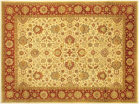 "A00837, 9' 2"" X 12' 3"",Traditional                   ,9' x 12',Tan,RUST,Hand-knotted                  ,Pakistan   ,100% Wool  ,Rectangle  ,652671129490"