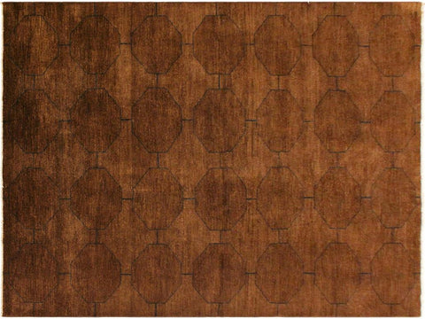 "A09038, 5'11"" X  8' 6"",Over Dyed                     ,6' x 9',Brown,BLUE,Hand-knotted                  ,Pakistan   ,100% Wool  ,Rectangle  ,652671173721"
