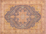 "A09051, 6' 4"" X  9' 7"",Vintage                       ,6' x 9',Grey,TAN,Hand-knotted                  ,Pakistan   ,100% Wool  ,Rectangle  ,652671173851"