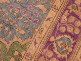 "A09053, 6' 4"" X  9' 1"",Vintage                       ,6' x 9',Blue,PURPLE,Hand-knotted                  ,Pakistan   ,100% Wool  ,Rectangle  ,652671173875"