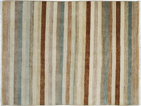 "A09058, 4' 0"" X  6' 2"",Modern     ,4' x 6',Tan,BROWN,Hand-knotted                  ,Pakistan   ,100% Wool  ,Rectangle  ,652671173929"