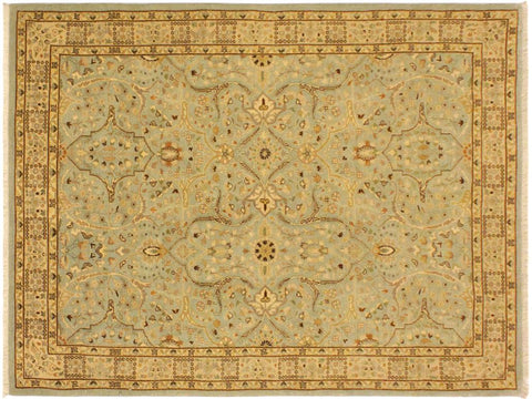 "A09074, 4' 0"" X  5'11"",Traditional                   ,4' x 6',Blue,IVORY,Hand-knotted                  ,Pakistan   ,100% Wool  ,Rectangle  ,652671174087"